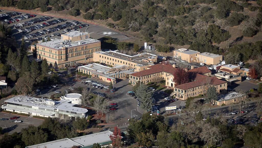 The 82-acre county-owned former site of Sutter Hospital on Chanate Rd. in Santa Rosa seen from the air in January 2012. (Kent Porter / Press Democrat) 2012