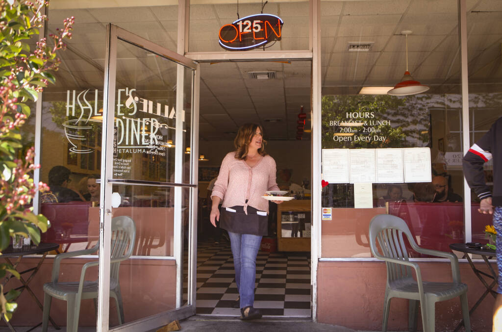 Jen Cromwell worked as a server at Hallie's Diner for 20 years before purchasing the restaurant in 2017. (CRISSY PASCUAL/ARGUS-COURIER STAFF)