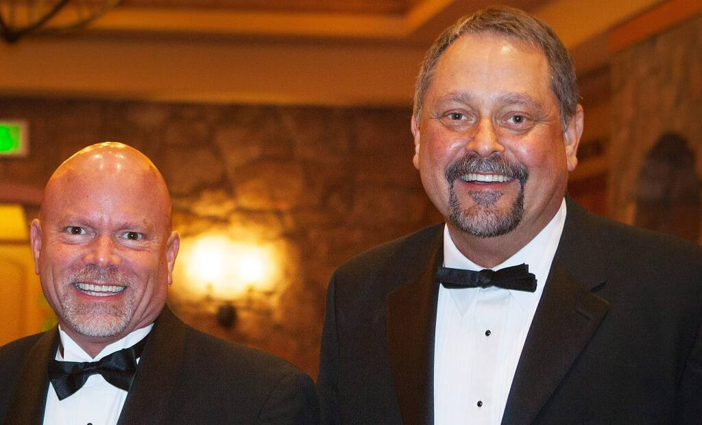 Steve Gustafson and Wes Winter attend the Have a Heart Benefit and Gala, which benefits all of the programs of the Volunteer Center of Sonoma County, at the Vintners Inn Event Center on February. 23, 2013.
