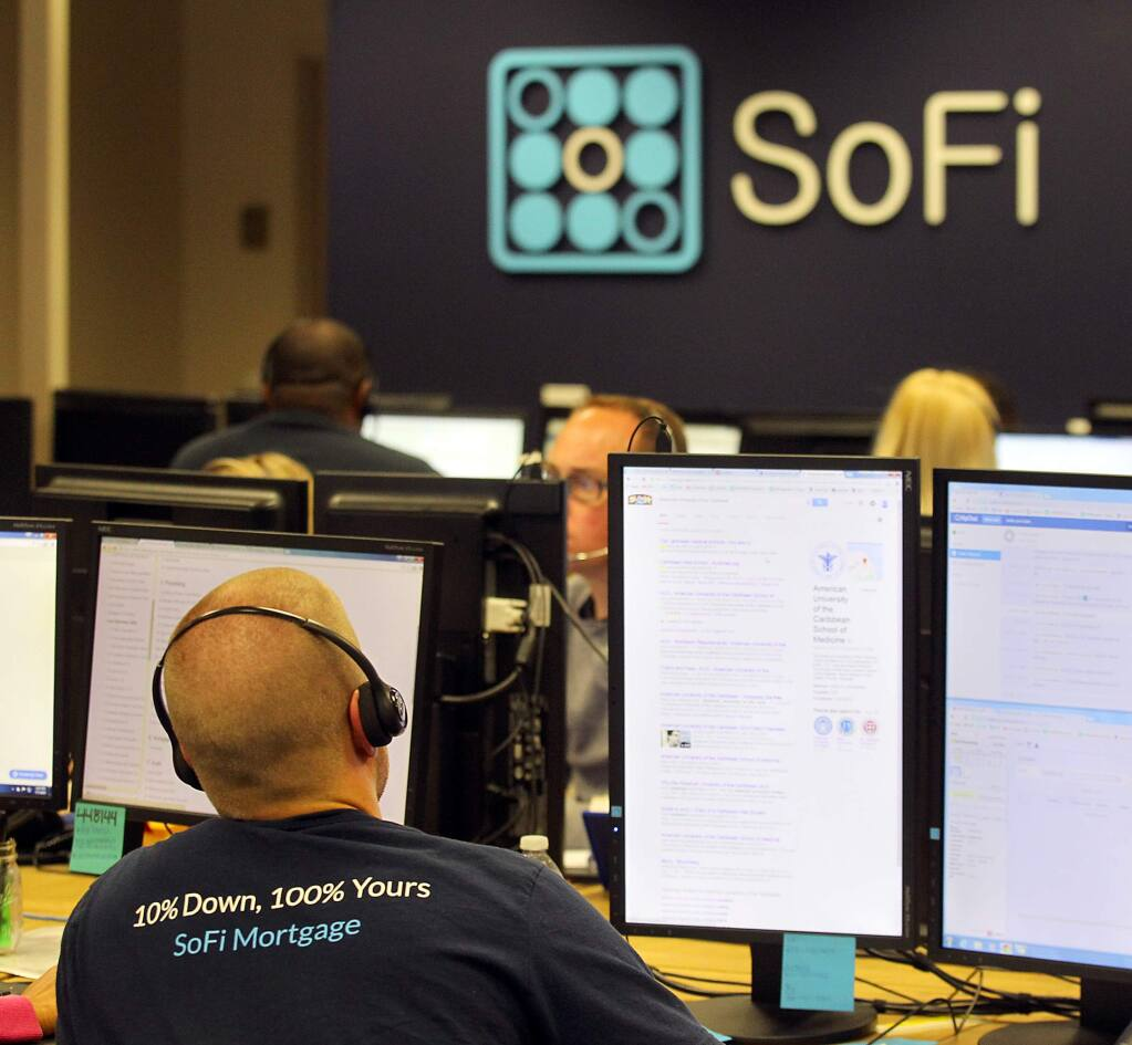 The SoFi office in Healdsburg specializes in student loan refinancing. (JOHN BURGESS/ PD FILE, 2015)