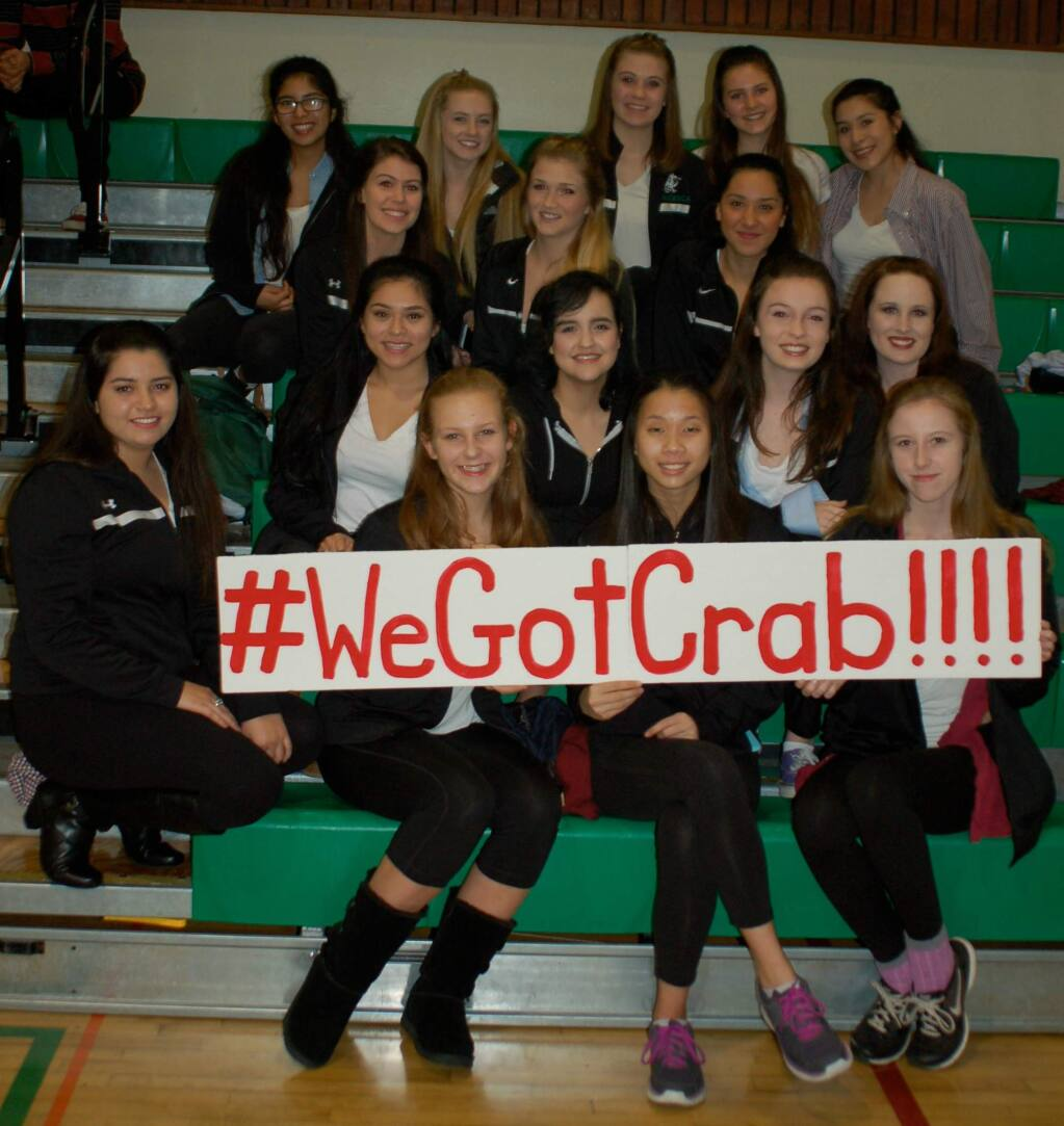 Sonoma Valley High's dance team promoting the school's 2016 Crab Feed.