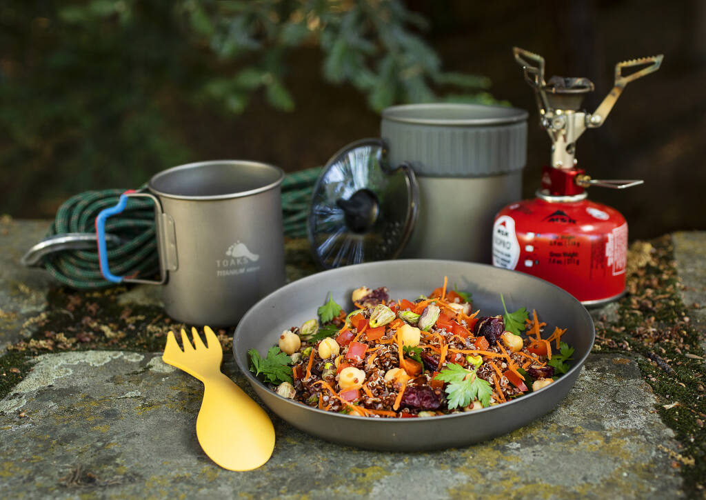 """Moroccan Chickpea and Quinoa Salad from """"The Hungry Spork Trail Recipes: Quick Gourmet Meals for the Backcountry"""" by Inga Aksamit of Kenwood. (John Burgess/The Press Democrat)"""