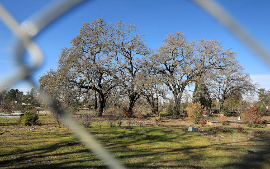 The planned Vintage Oaks housing development is in limbo, and is fenced off just north of Oliver's Market, on Wednesday, Dec. 30, 2020. (Kent Porter / The Press Democrat)