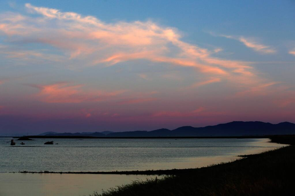 Sunset overlooking the Sears Point Wetlands Restoration Project in Sonoma, California on Friday, June 10, 2016. (Alvin Jornada / The Press Democrat)