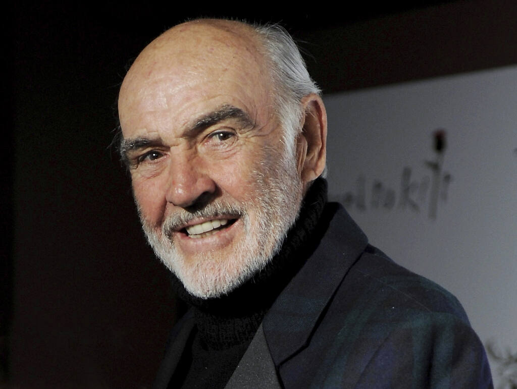 Sir Sean Connery attends the 7th Annual 'Dressed To Kilt' charity fashion show to kick off Tartan Week on Monday, Mar. 30, 2009 in New York. (AP Photo/Evan Agostini)