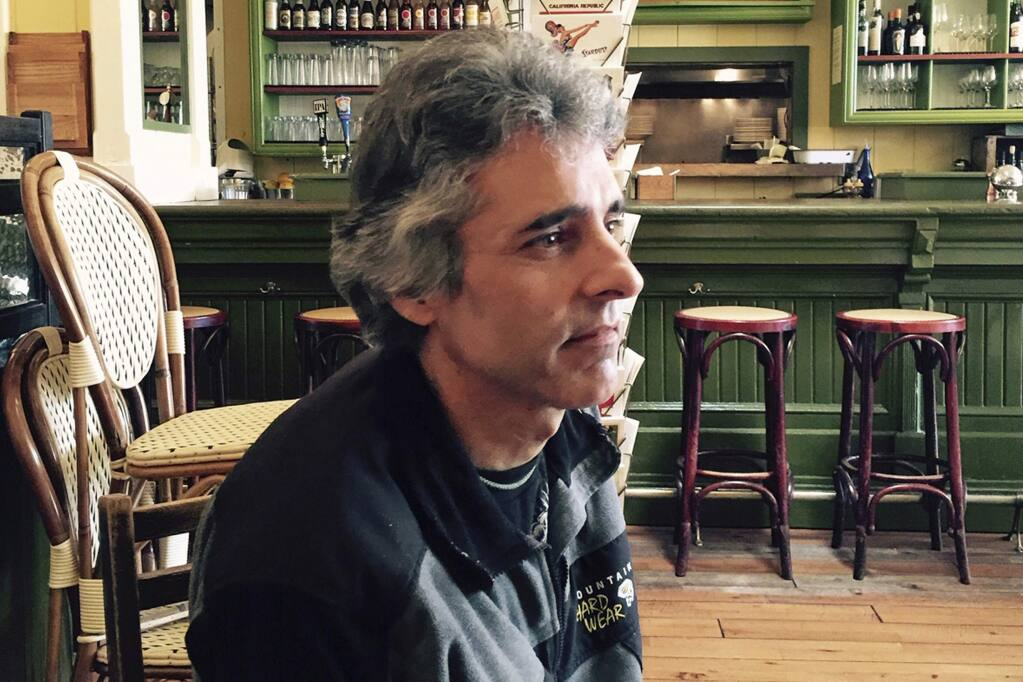 This Sept. 28, 2015, file photo provided by Catherine Aguilera shows David Glen Ward at the Willow Wood Cafe in Graton, California.  (Catherine Aguilera via AP, File)