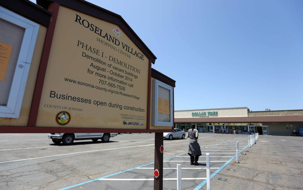 The lot on Sebastopol Road where three design proposals have been submitted for the Roseland Village mixed use development in Santa Rosa, Saturday, June 13, 2015. (CRISTA JEREMIASON / The Press Democrat)