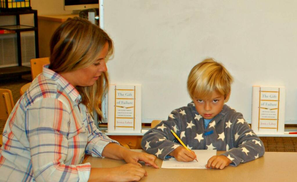 Second grader Quinn Mahoney and his mother Toni contemplate the risks and rewards of 'The Gift of Failure.'