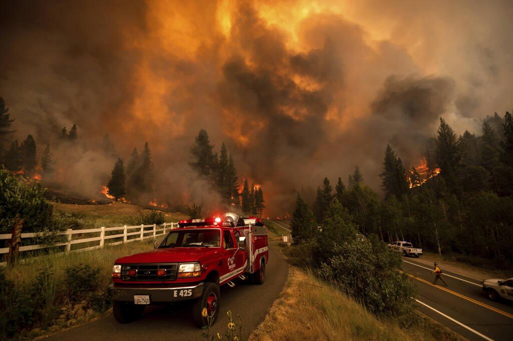 Lake Tahoe blaze prompts more evacuations as wildfires burn across western  US