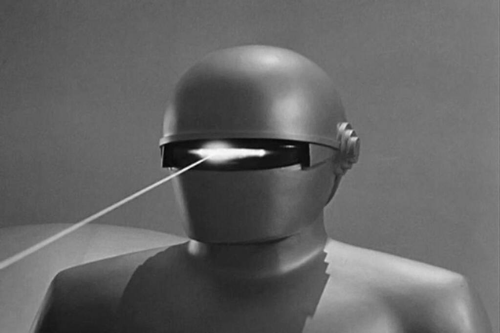 Gort demonstrates his talents to the earthling masses in 'The Day the Earth Stood Still.'