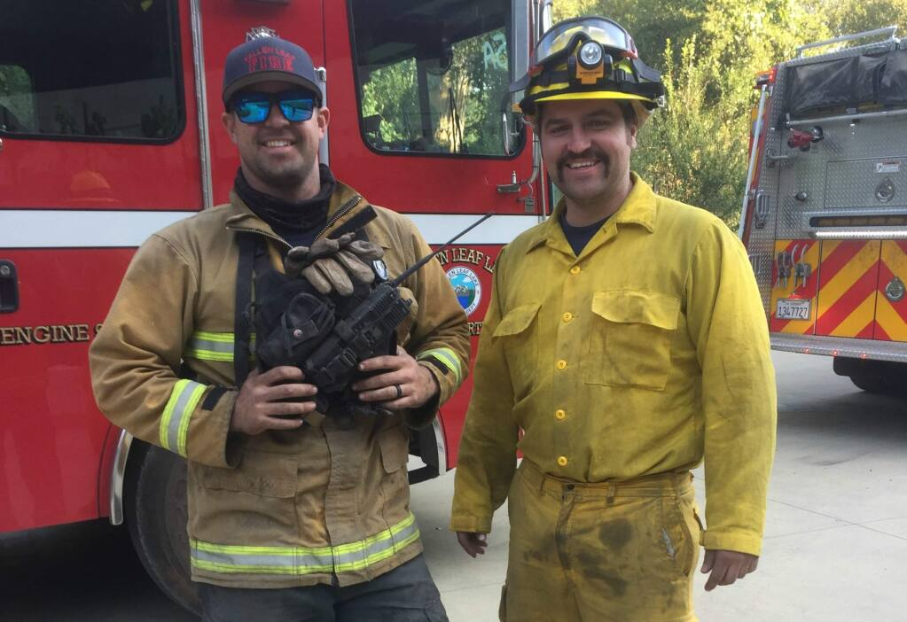 Firefighters from Fallen Leaf Lake