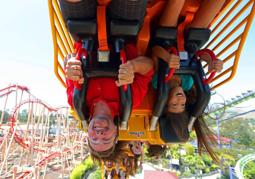 """The way it was and will soon be again: Six Flags Discovery Kingdom in Vallejo will be allowed to reopen rides at 15% as of April 1 under new California rules for counties that have progressed to the red (""""substantial"""") tier of coronavirus community spread. Solano County moves to the red tier as of March 10. (courtesy of Six Flags)"""