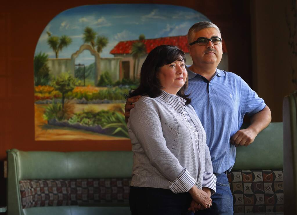Lupe's Diner owners Guadalupe and Carlos Licea lost their home in the Coffey Park neighborhood, in Santa Rosa, in the Tubbs fire. They plan on moving into their rebuilt home next month.(Christopher Chung/ The Press Democrat)