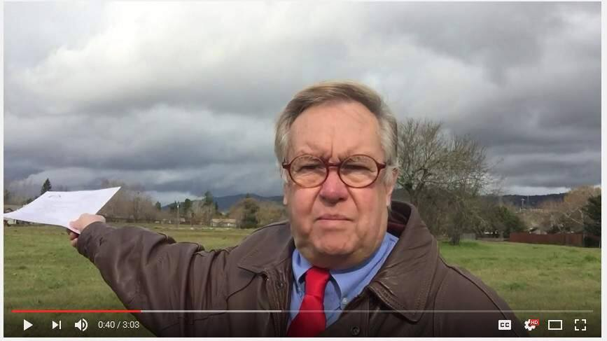 Bill Boerum, secretary of the Sonoma Valley Health Care District, took to YouTube to voice his concerns over a 'rush to sell' almost three acres of Sonoma real estate.