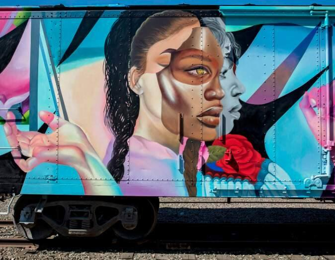New artwork from ELLE in Napas Rail Arts District. (John Domine)