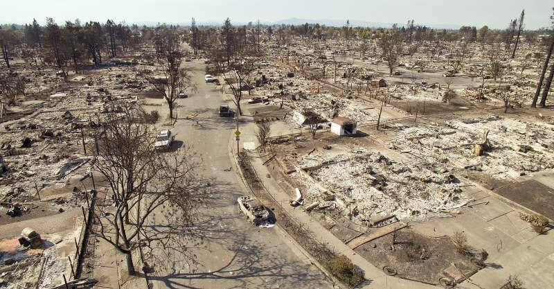 Hundreds of homes were destroyed in the Coffey Park area of Santa Rosa as containment grows, the residents are beginning to clean up and put their lives back together. (Chad Surmick/The Press Democrat)