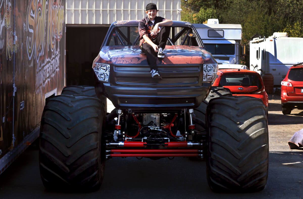 Cloverdale boy, 13, is the world's youngest pro monster truck driver - Santa Rosa Press Democrat