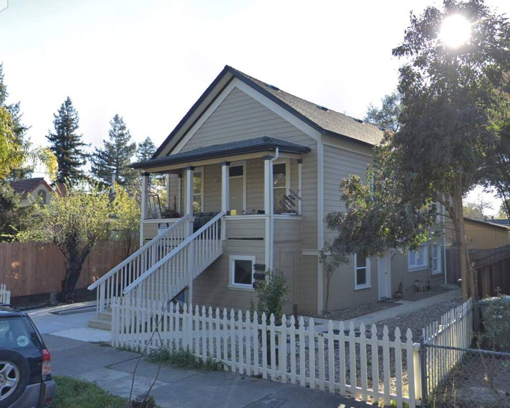 This house, a seven-bedroom, three-bathroom home at 811 Davis St. in Santa Rosa, is listed on Zillow at $999,000. (GOOGLE STREET VIEW)