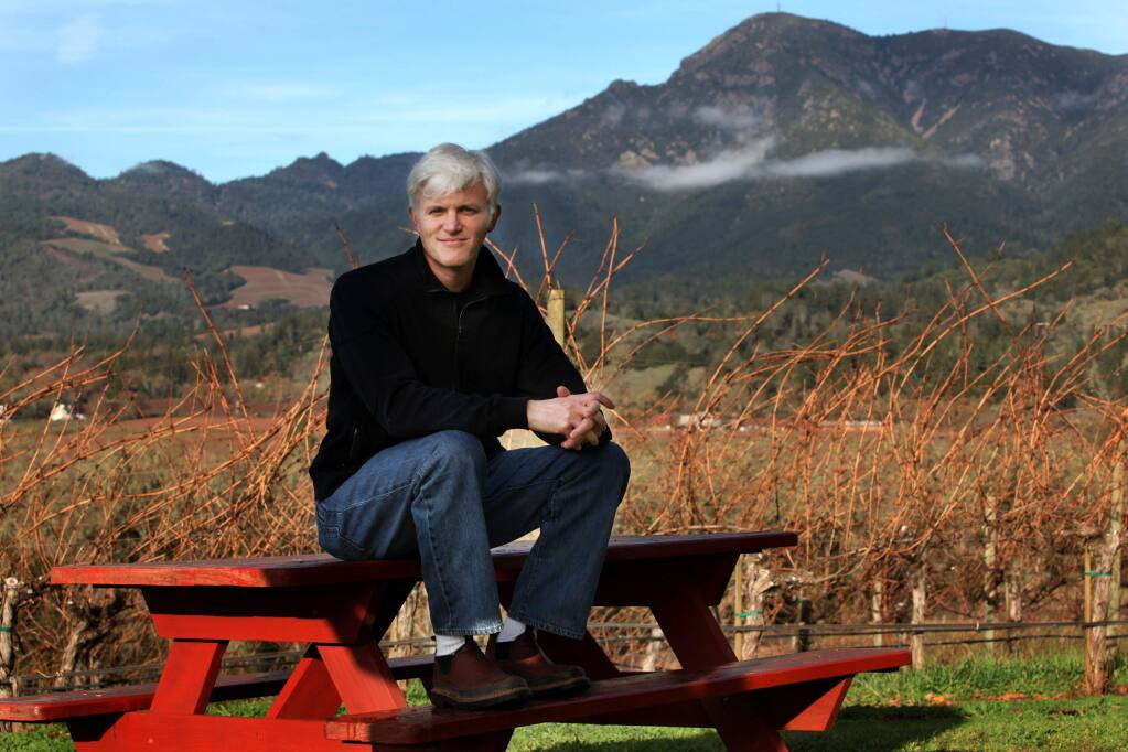 (File photo) Tim Carl of Knights Bridge Winery on his 50-acre Knights Valley property, Dec. 18, 2009.