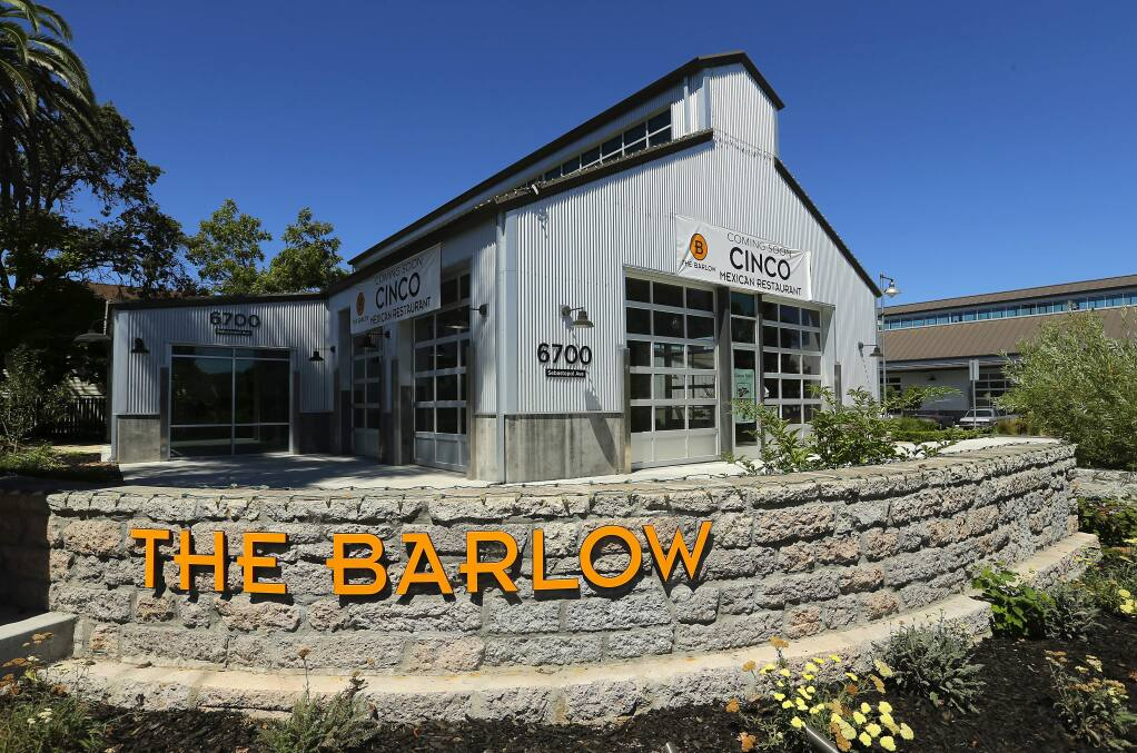 PHOTO: 1 by JOHN BURGESS / The Press Democrat -A new restaurant, Cinco, will occupy a building that had been slated for the lobby of Hotel Barlow in Sebastopol.