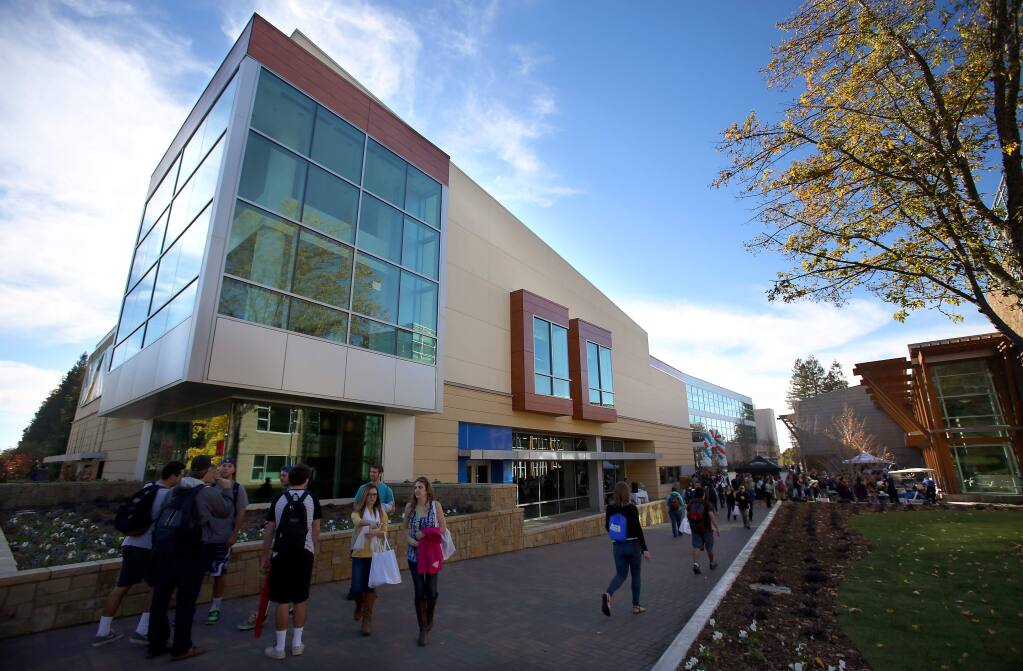(File photo) The new Student Center at Sonoma State University, in Rohnert Park, opened to students on Wednesday, November 13, 2013. (Christopher Chung/ The Press Democrat)