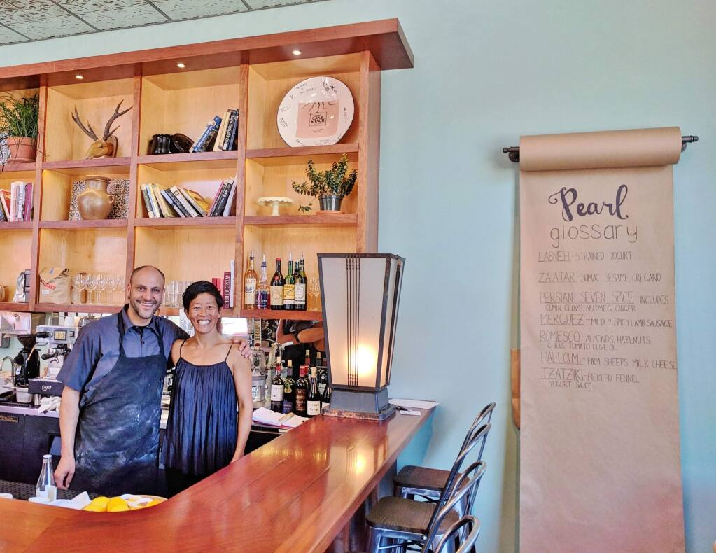 Annette Yang and Brian Letiner are the co-owners of Pearl in Petaluma, which opened in 2018. HOUSTON PORTER FOR THE ARGUS-COURIER
