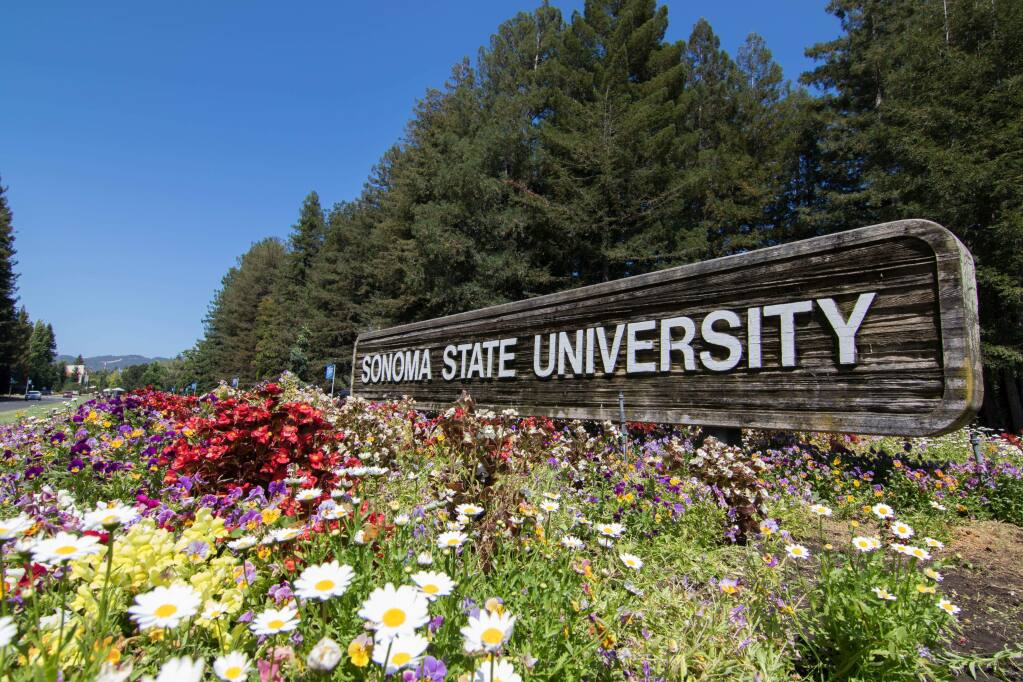 Sonoma State University entrance in Rohnert Park. (SSU)