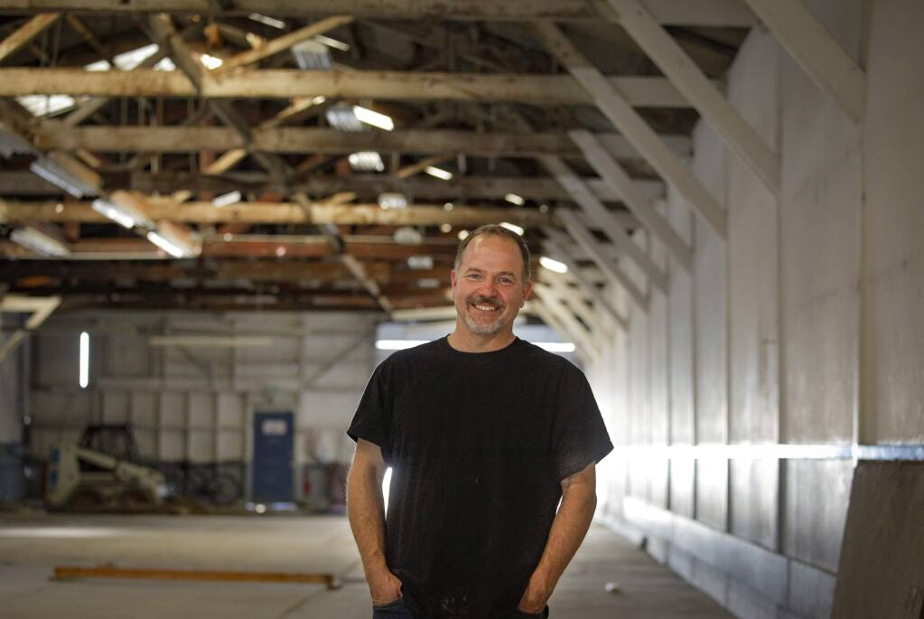 Petaluma, CA, USA. Tuesday, March 03, 2020._ Garry Brooks, co-owner of the Brooks Note Winery, began making wine as a hobby in his garage. Now, he plans to open a tasting room in Petaluma in what used to be a garage for vintage cars. (CRISSY PASCUAL/ARGUS-COURIER STAFF)