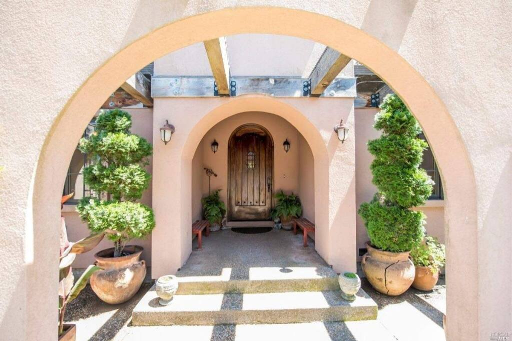 The main entrance to 285 Feather Hill Lane, Petaluma. Property listed by Steven Cozza/Compass, 707-328-9766. (Courtesy of BAREIS MLS)