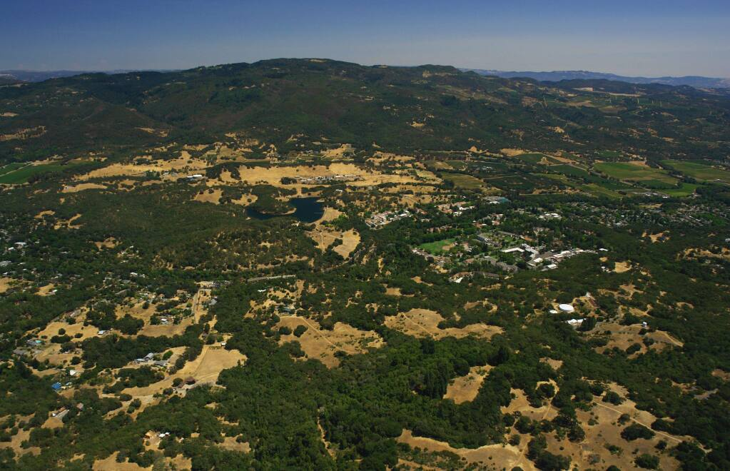 The Sonoma Developmental Center land from above. Photo by Robert Janover.