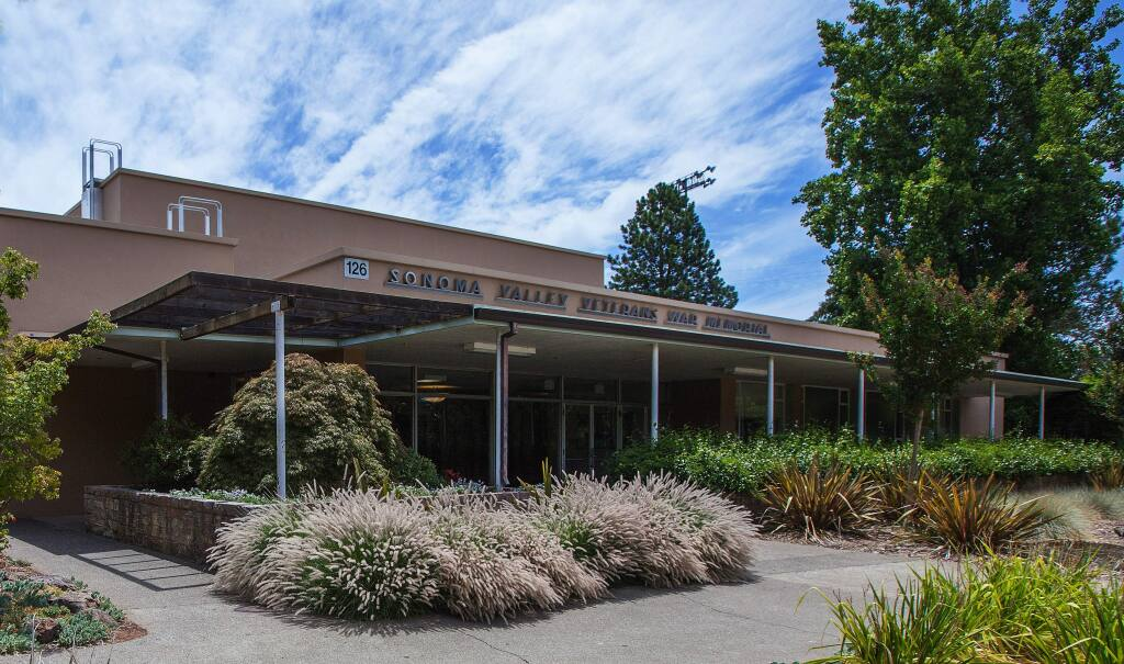 Robbi pengelly/Index-TribuneThe Sonoma Valley Veterans Memorial is one of seven veterans buildings the county owns and maintains.