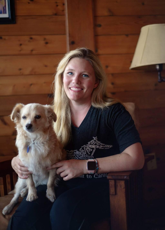 Jaycee Dugard with her dog, Finn. (Liesa Cole)