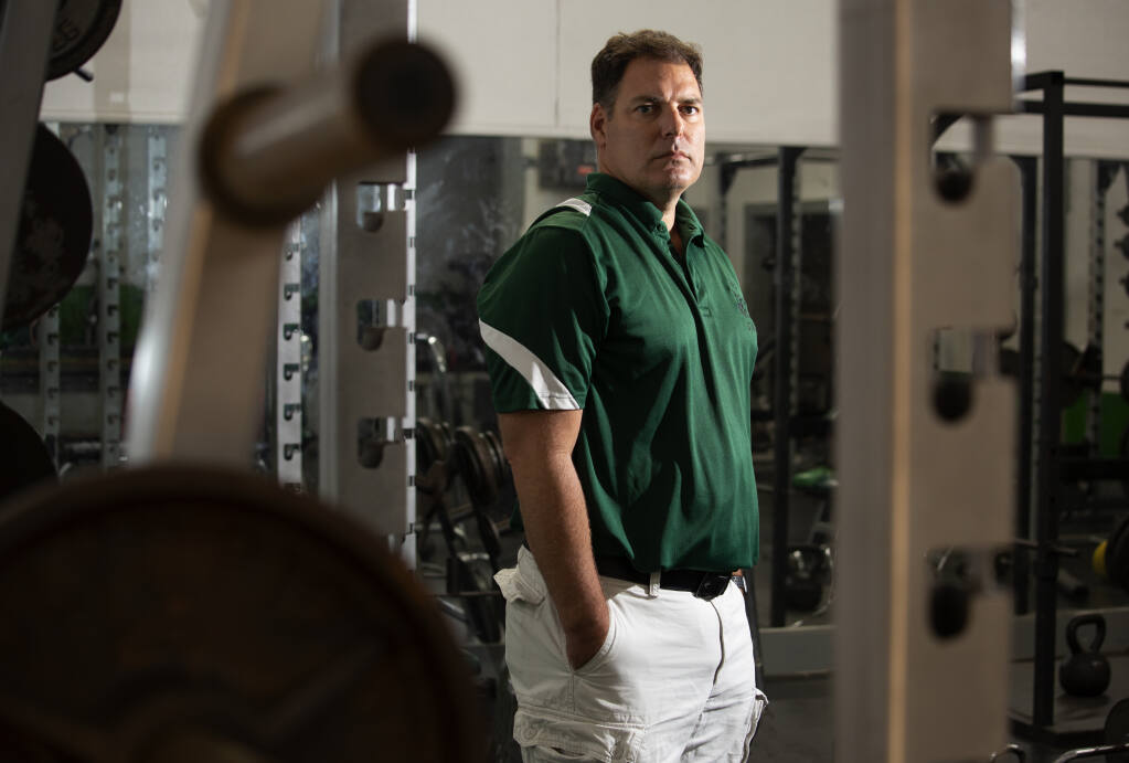Dennis Housman, chair of the Sonoma Valley High School's physical education department, at the school's the weight room on Thursday, Sept. 10, 2020. (Photo by Robbi Pengelly/Index-Tribune)