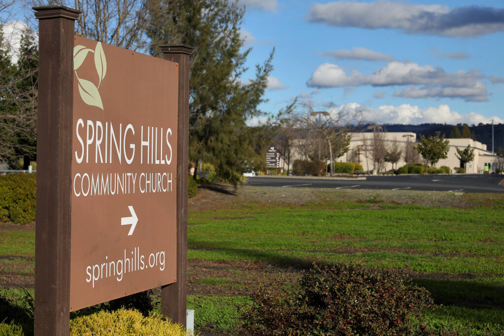 Spring Hills Church in Fulton on Friday, January 29, 2021.  (Christopher Chung/ The Press Democrat)