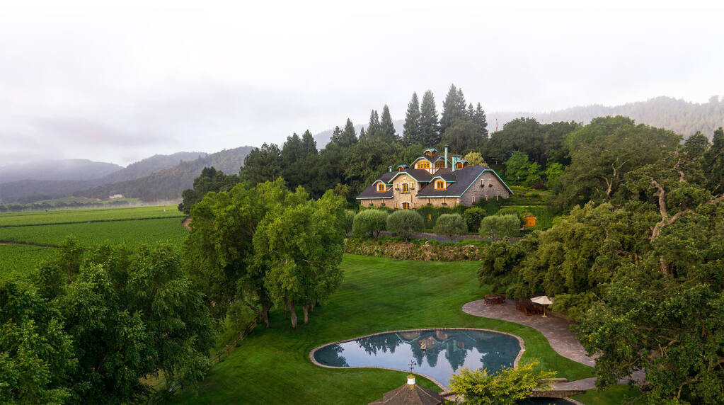The Far Niente winery in Oakville in Napa Valley was built in 1885 then purchased and restored in 1979. (courtesy of Far Niente Family of Wineries & Vineyards)