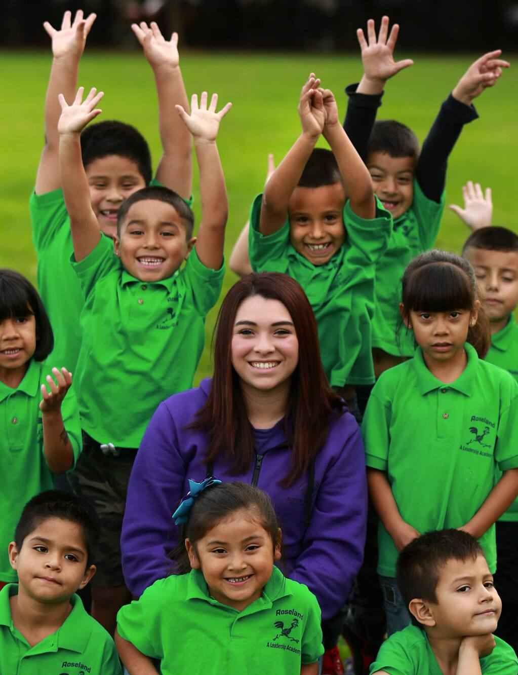 Teen face Maria Millagomez is on staff with the Boys and Girls Club at Roseland School in Santa Rosa.