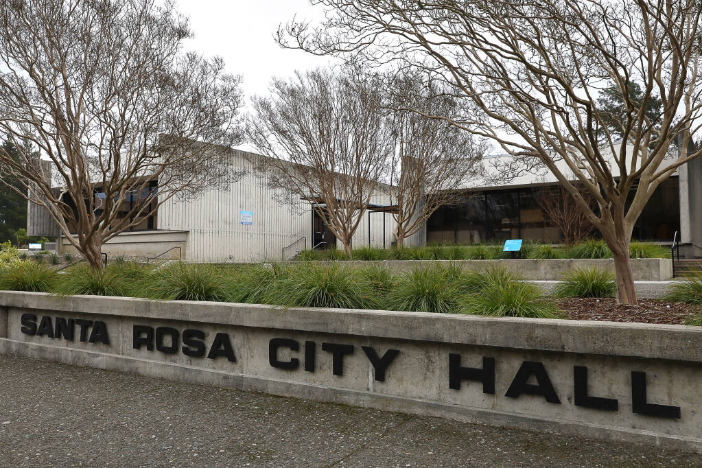 Santa Rosa City Hall on Wednesday, January 30, 2019.(Christopher Chung/ The Press Democrat)
