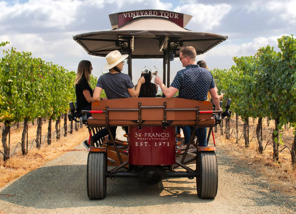 A new way to tour St. Francis Winery.