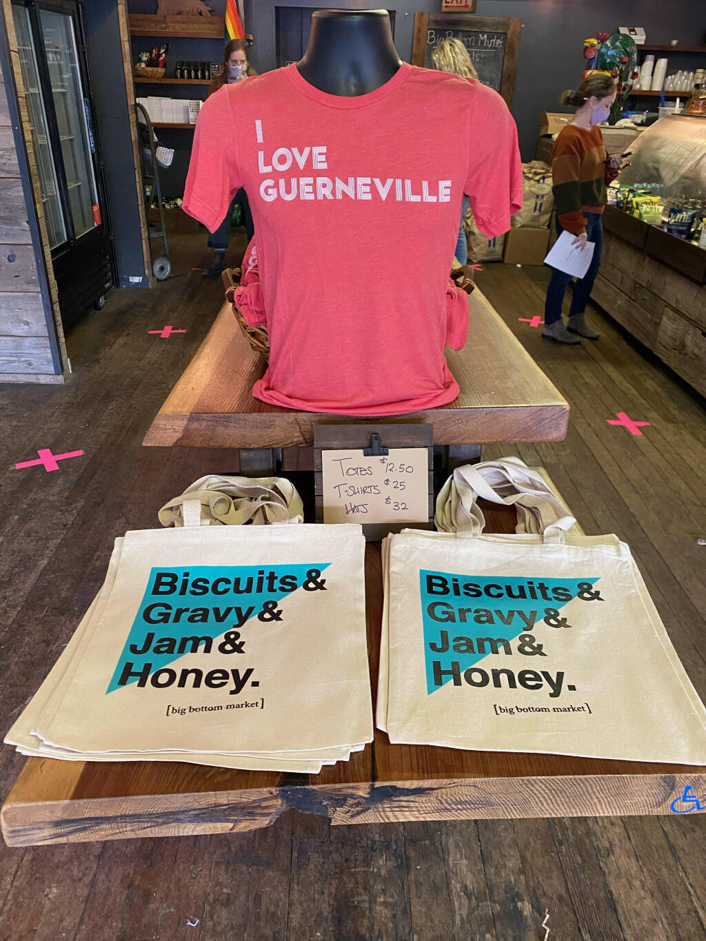 Big Bottom Market in Guernville developed a line of merchandise this year that has become a big seller with locals. (Michael Volpatt Photo)