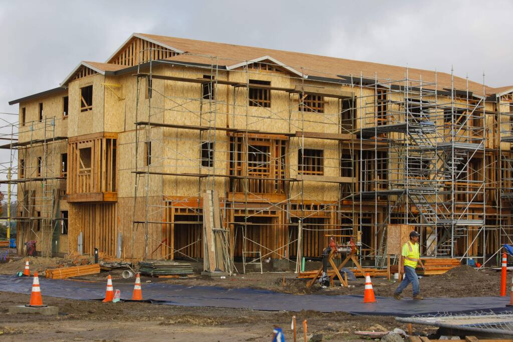 Construction continues at Brody Ranch, a new housing development in East Petaluma on Sonoma Mountain Parkway and Corona Road. (CRISSY PASCUAL/ARGUS-COURIER STAFF)