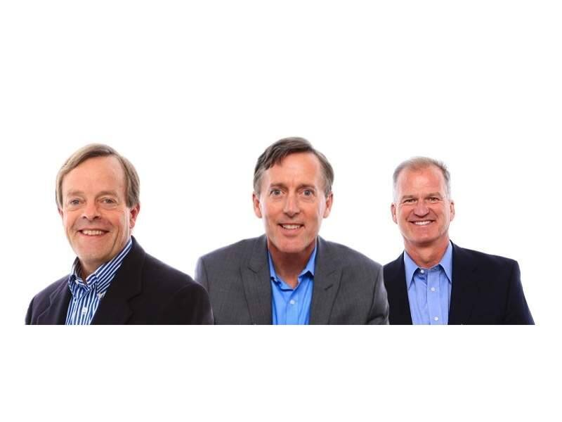 The executive team of San Rafael's CleanFund: John Kinney, founder and executive chairman; Greg Saunders, CEO; Joe Euphrat, managing director. (COMPOSITE OF IMAGES FROM CLEANFUND.COM)