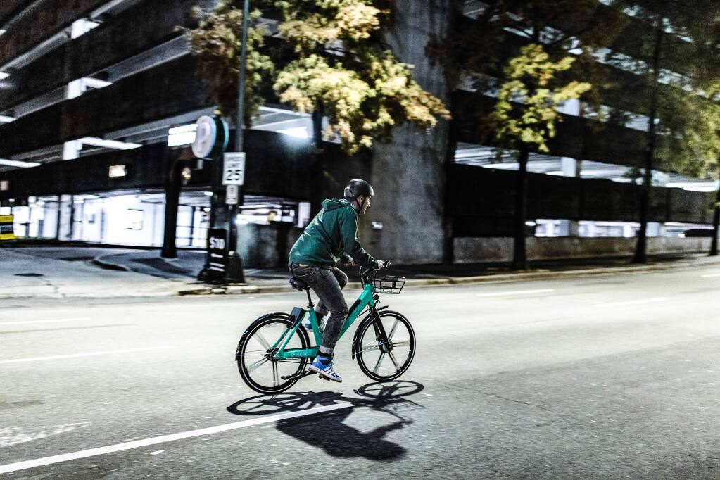 A new bike-share program will arrive at SMART train stations as early as this year after a deal was struck between South Carolina-based Gotcha Mobility and the transportation authorities of Sonoma and Marin counties. (Gotcha Mobility)
