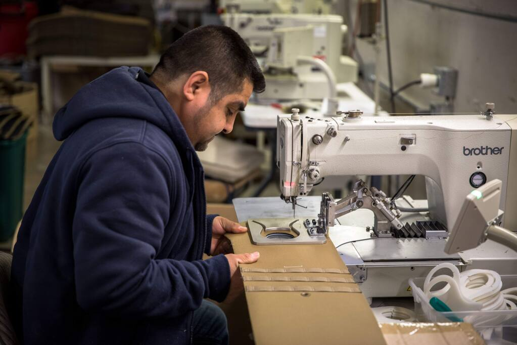 Tek Tailor, formerly part of Sonoma USA, makes tactical work safety gear for fire, police and military personnel. (BRIAN SAMUEL DONALD)