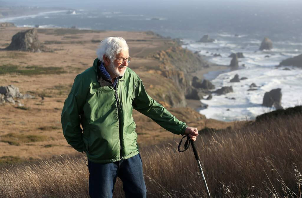 Bill Kortum, seen in October 2013, has a trail named after him that begins at the mouth of the Russian River and ends at Wright's Beach in Bodega Bay. (Christopher Chung/ The Press Democrat)