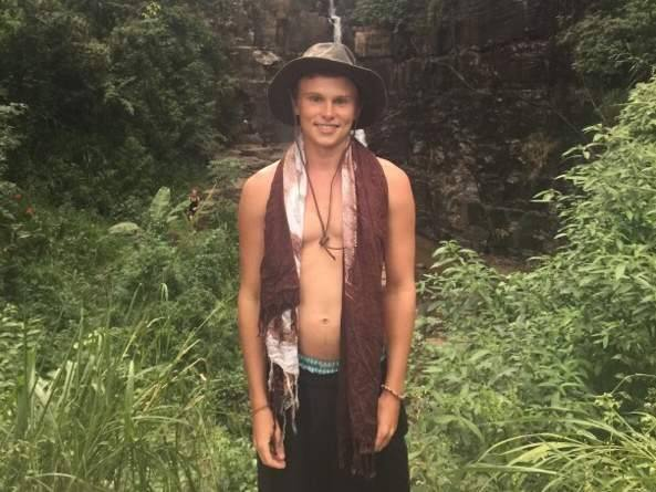 Spencer Dickinson of Petaluma is shown here in Northeast Thailand in February 2015. Dickinson, who had been unaccounted for after Saturday's quake in Nepal, called his father Tuesday evening. (FAMILY PHOTO)