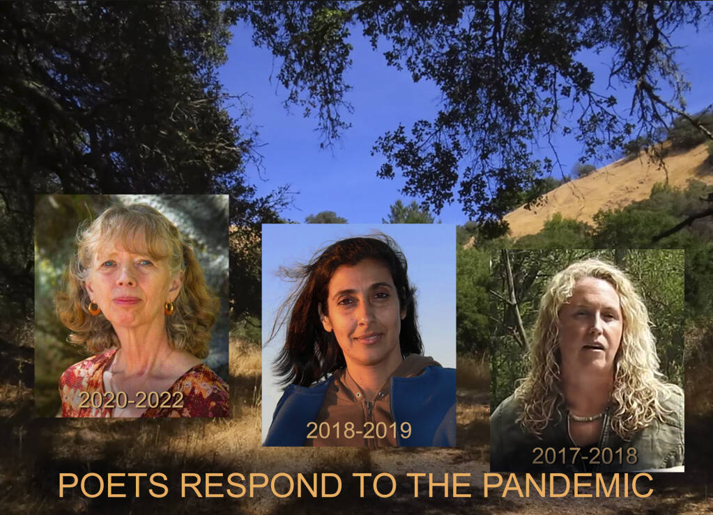 Wanting to explore how poets have responded to the pandemic. David Rosen had the honor of speaking with our current Sonoma County Poet Laureate Phyllis Meshulam as well her two predecessors, Maya Khosla and Iris Jamahl Dunkle.