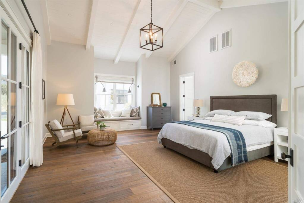 A window seat and cathedral ceilings in the master suite at 20376 Wolf Meadow Lane, Sonoma. Property listed by Maria Lounibos/Sotheby's International Realty, marialounibos.com, 707-935-2266. (Courtesy of BAREIS MLS)
