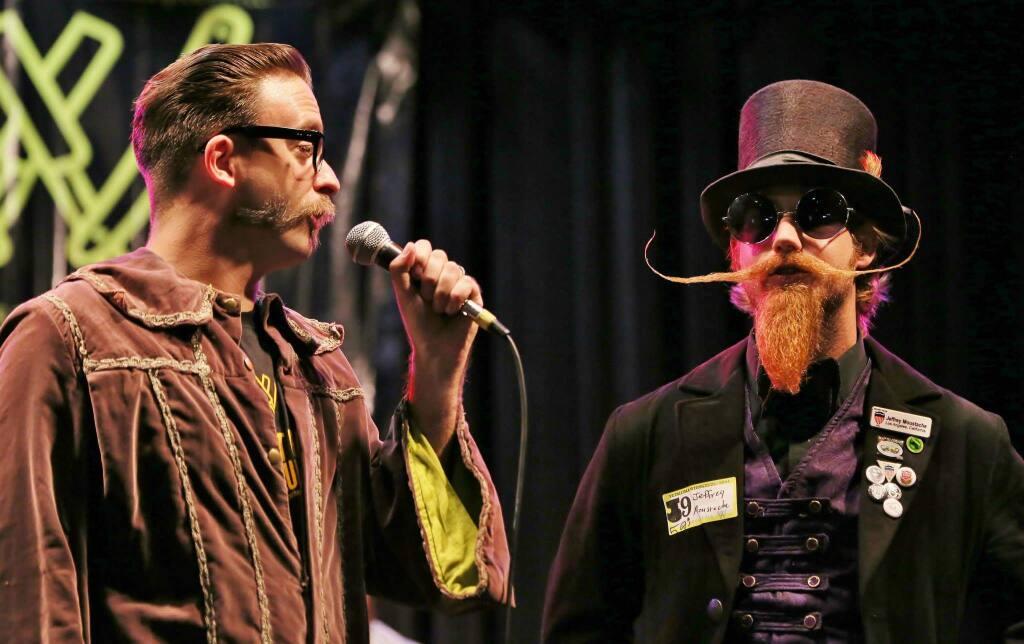 The 56th Annual Bill Sobranes Memorial Whiskerino Contest at the Phoenix Theater in Petaluma, Saturday Oct. 18, 2014. (photo by Will Bucquoy)