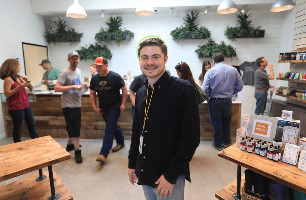 Eli Melrod, Soulful cannabis dispensary founder, Friday May 18, 2018 in Sebastopol. (Kent Porter / The Press Democrat) 2018