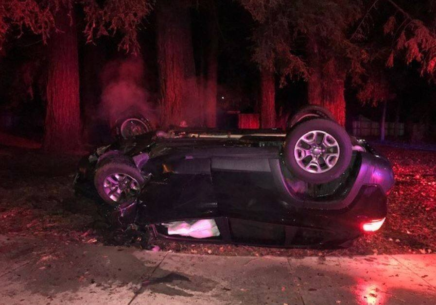 A man was arrested over the weekend after a suspected DUI crash in Rohnert Park. (Rohnert Park Police)